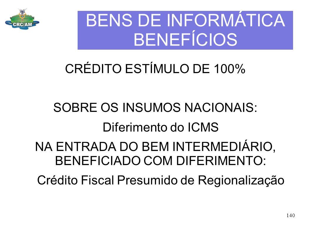 BENS DE INFORMÁTICA BENEFÍCIOS