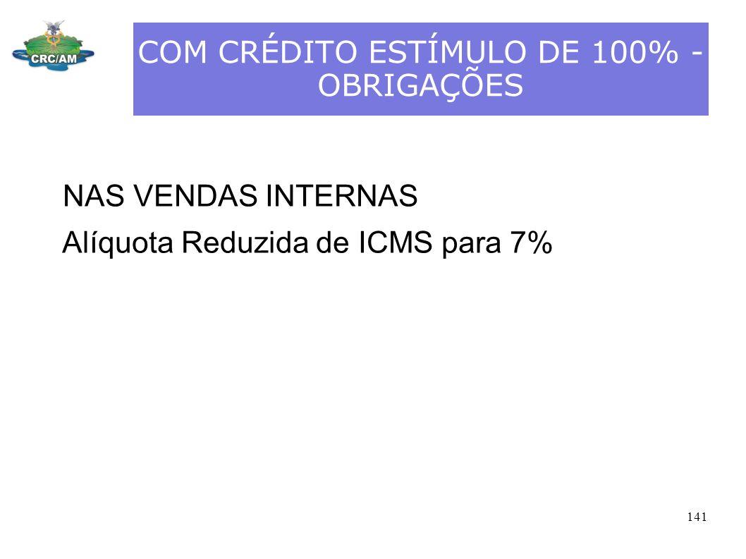 COM CRÉDITO ESTÍMULO DE 100% - OBRIGAÇÕES