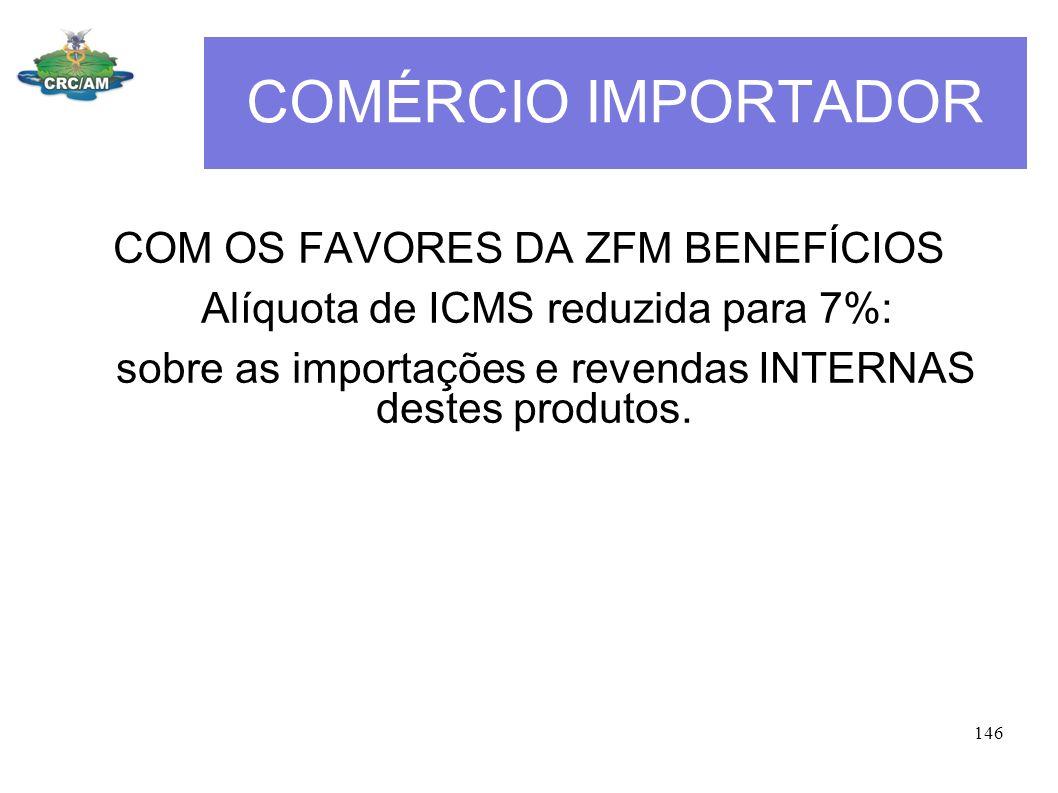 COMÉRCIO IMPORTADOR COM OS FAVORES DA ZFM BENEFÍCIOS