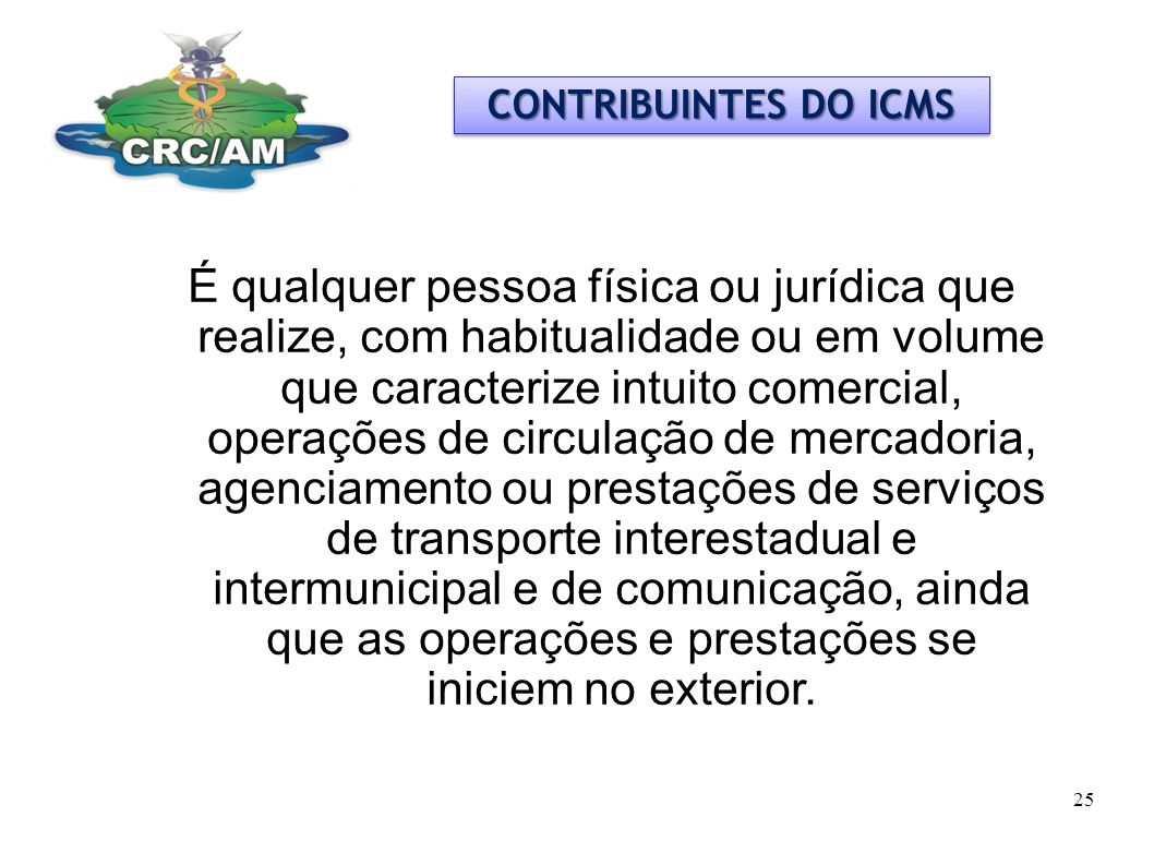 CONTRIBUINTES DO ICMS