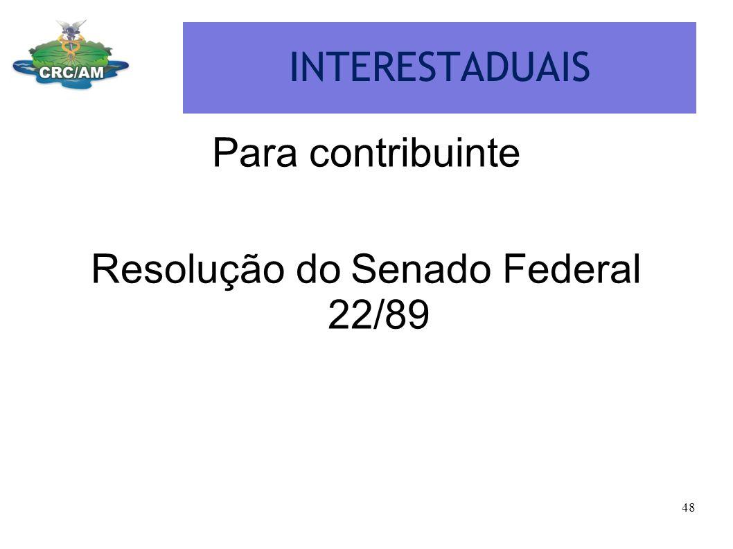 Resolução do Senado Federal 22/89