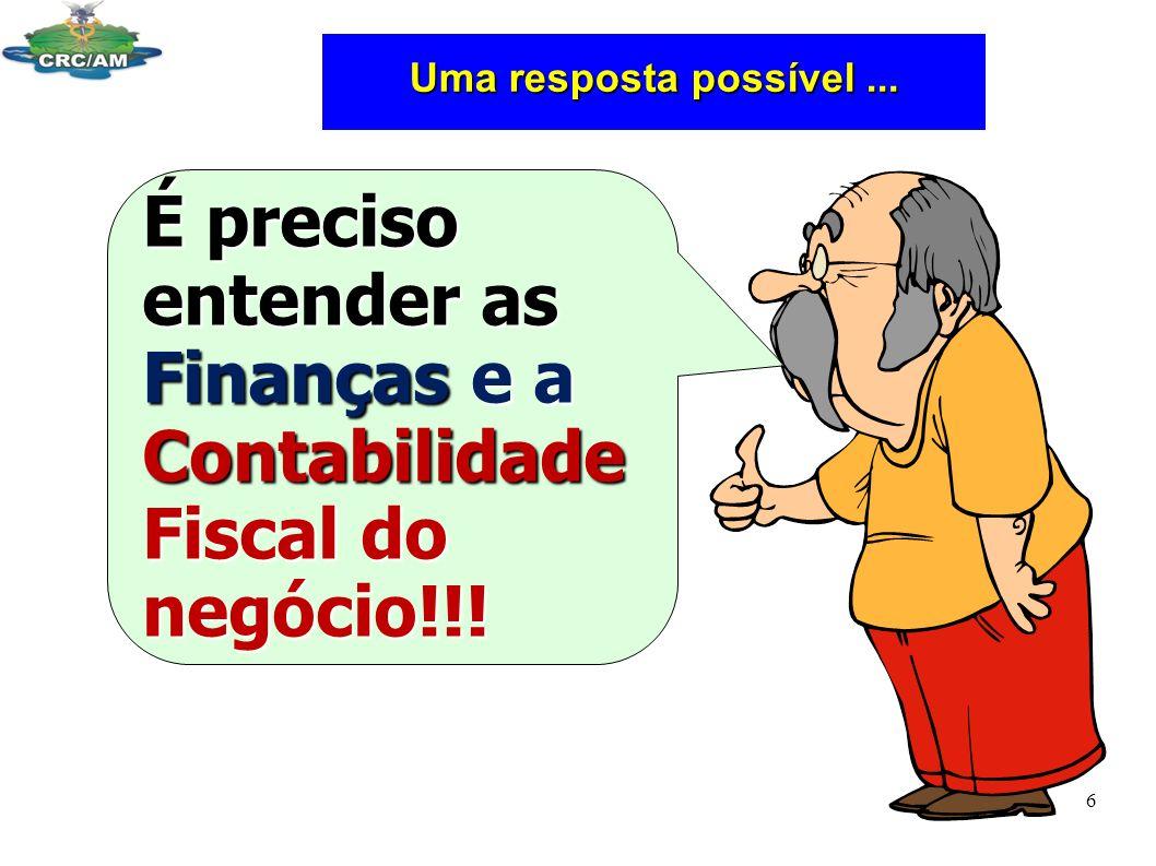 É preciso entender as Finanças e a Contabilidade Fiscal do negócio!!!
