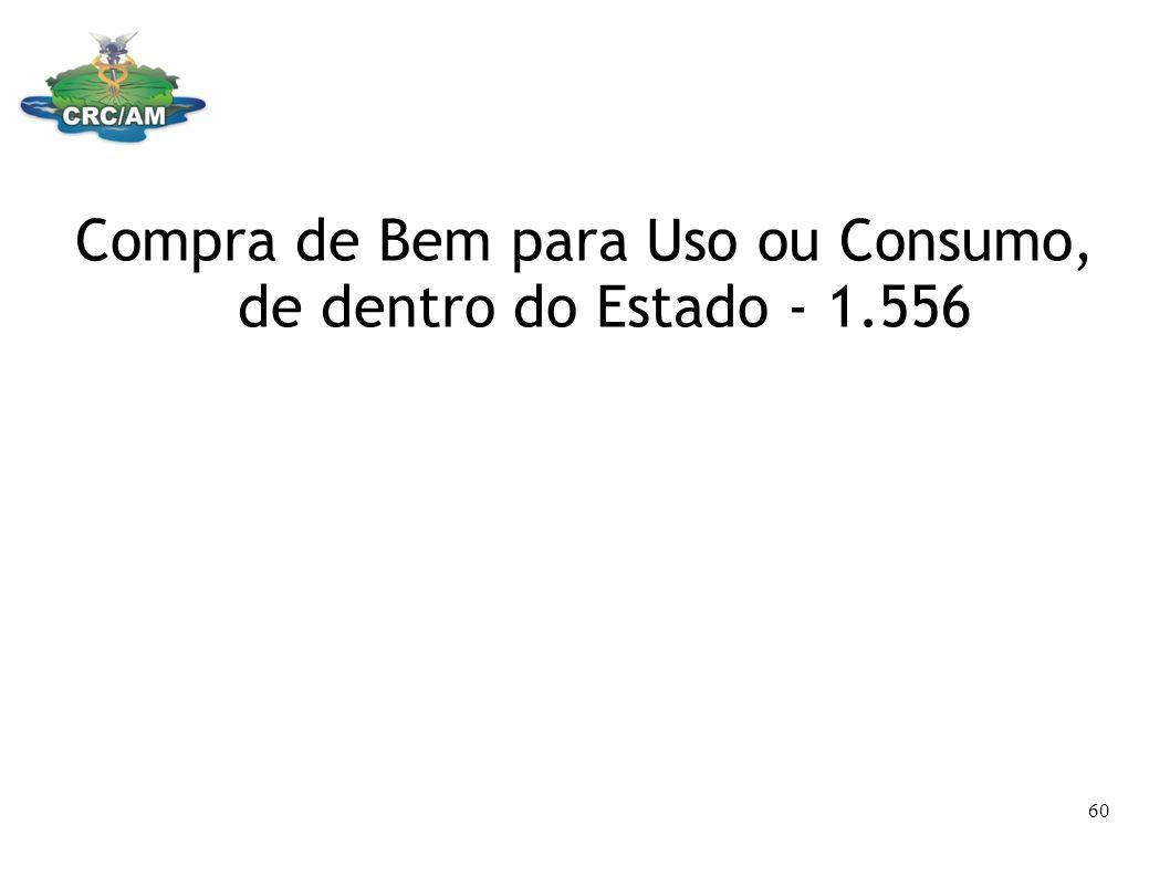 Compra de Bem para Uso ou Consumo, de dentro do Estado - 1.556