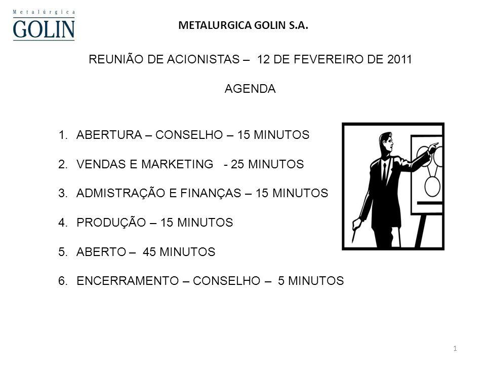 REUNIÃO DE ACIONISTAS – 12 DE FEVEREIRO DE 2011