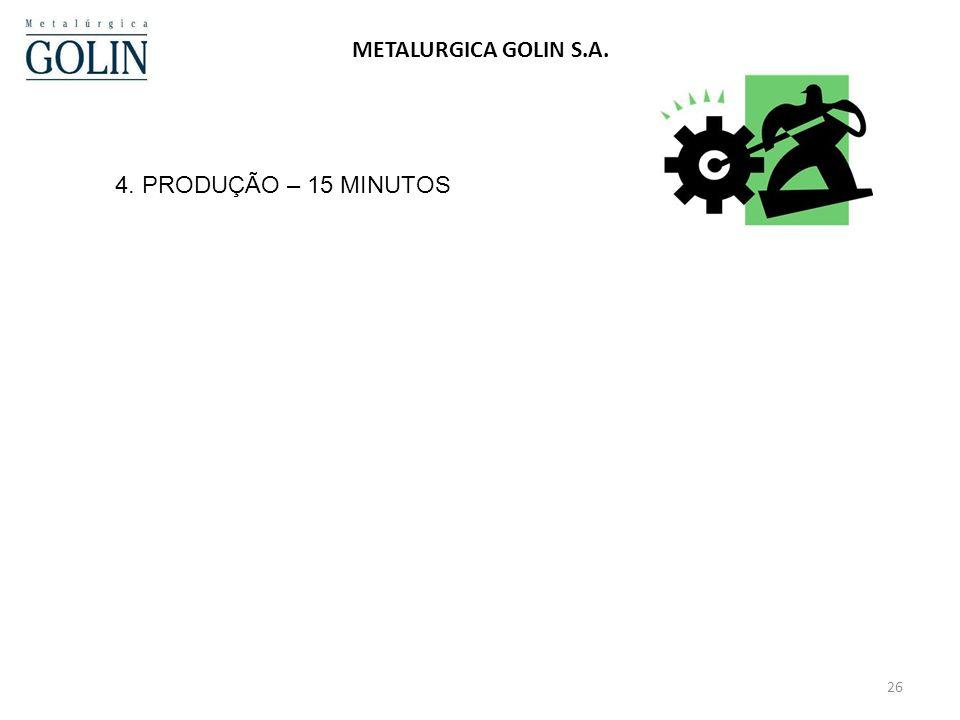 24/03/2017 METALURGICA GOLIN S.A. 4. PRODUÇÃO – 15 MINUTOS
