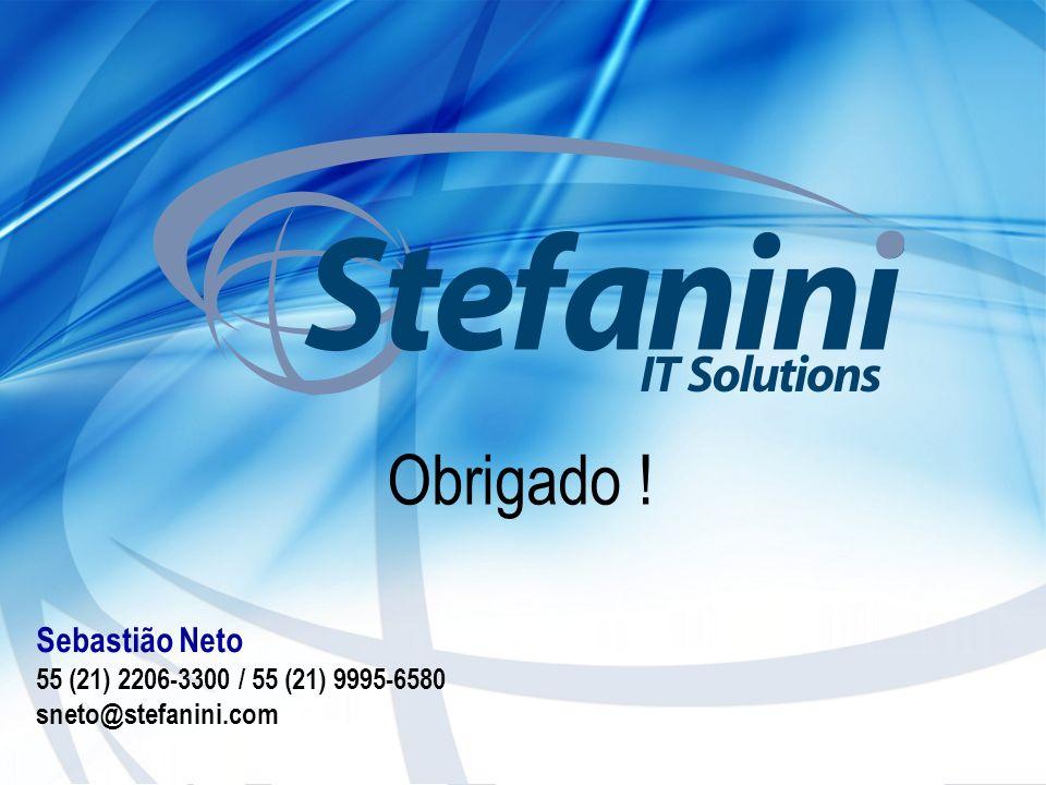 Obrigado ! Sebastião Neto 55 (21) 2206-3300 / 55 (21) 9995-6580