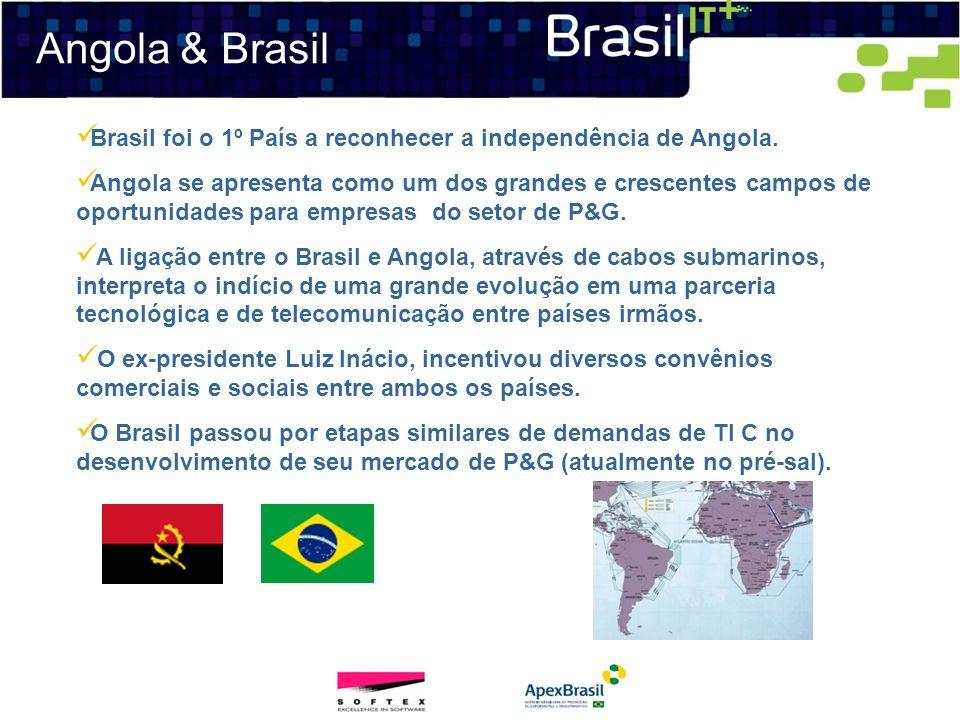 Angola & Brasil Brasil foi o 1º País a reconhecer a independência de Angola.