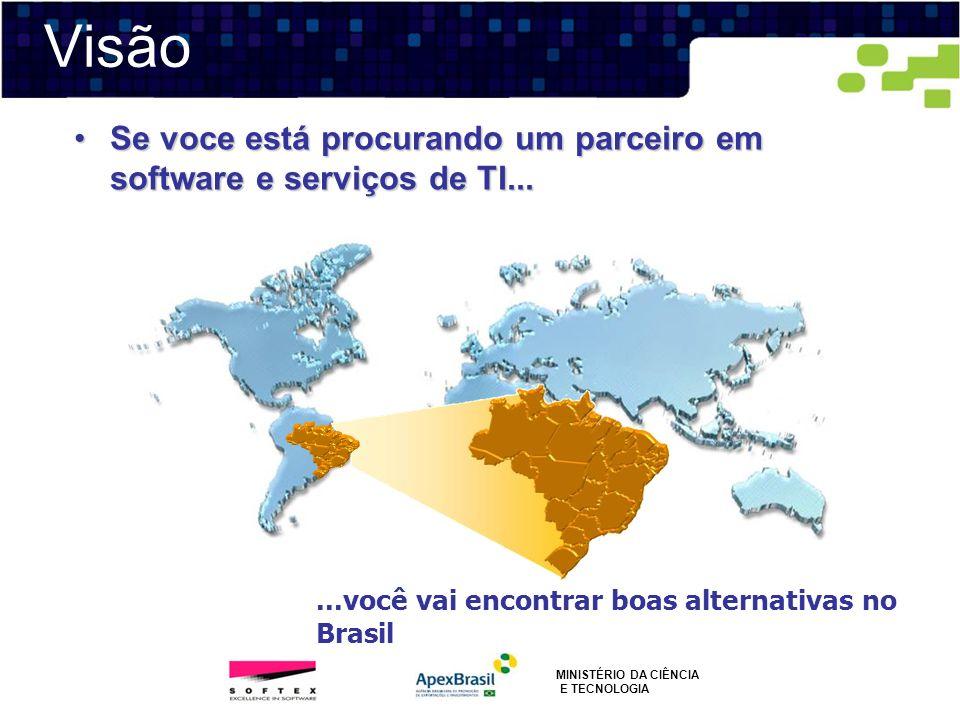 VisãoSe voce está procurando um parceiro em software e serviços de TI... ...você vai encontrar boas alternativas no Brasil.