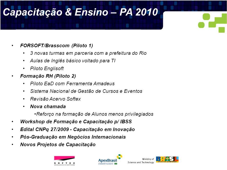 Capacitação & Ensino – PA 2010