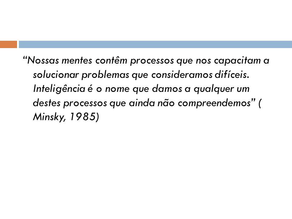 Nossas mentes contêm processos que nos capacitam a solucionar problemas que consideramos difíceis.