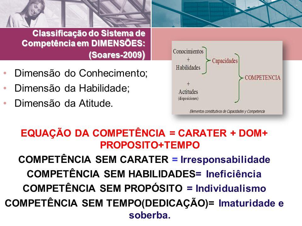 Classificação do Sistema de Competência em DIMENSÕES: (Soares-2009)