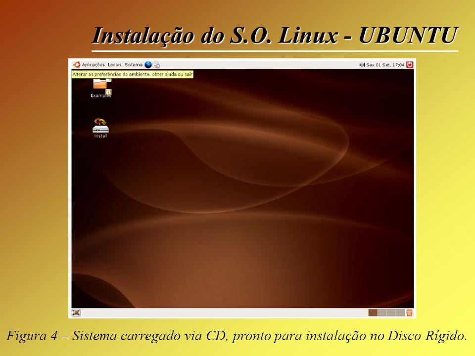 Instalação do S.O. Linux - UBUNTU