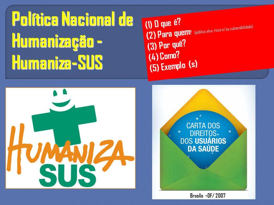 Política Nacional de Humanização - Humaniza-SUS