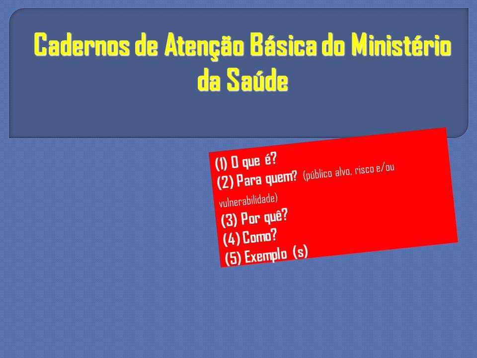 Cadernos de Atenção Básica do Ministério da Saúde