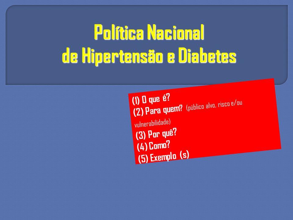 de Hipertensão e Diabetes