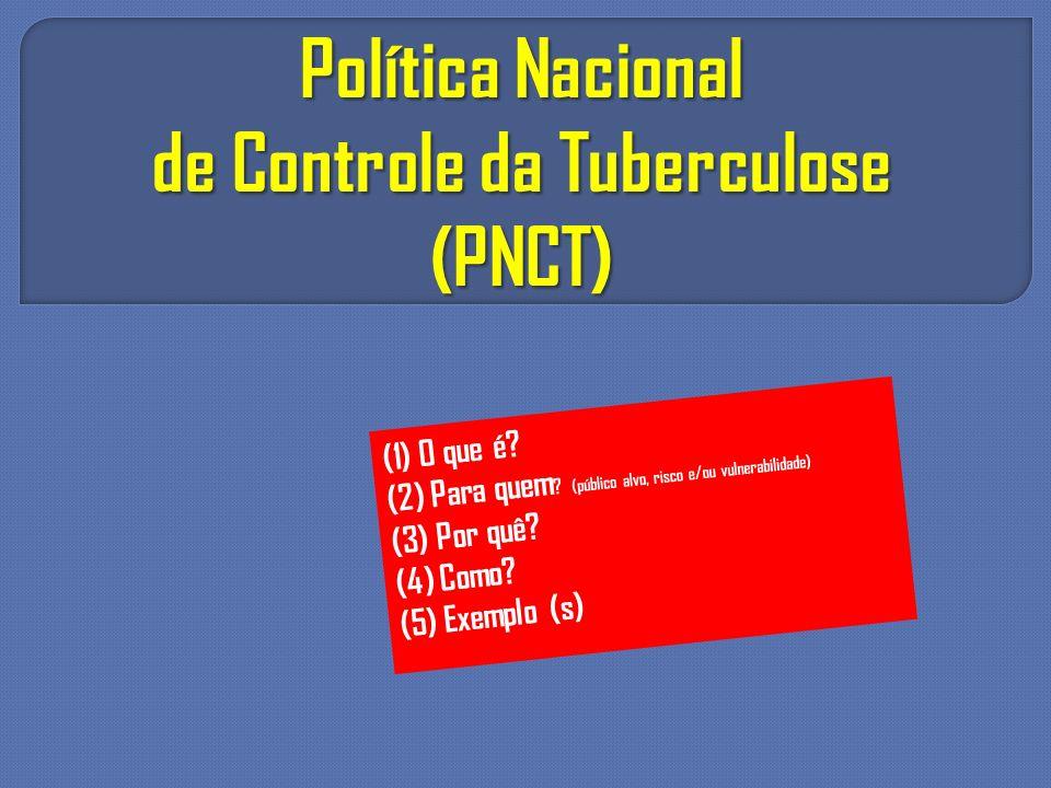 de Controle da Tuberculose (PNCT)