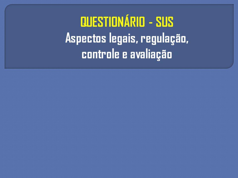 Aspectos legais, regulação,