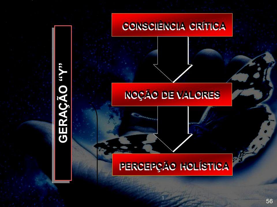 GERAÇÃO Y CONSCIÊNCIA CRÍTICA NOÇÃO DE VALORES PERCEPÇÃO HOLÍSTICA 1