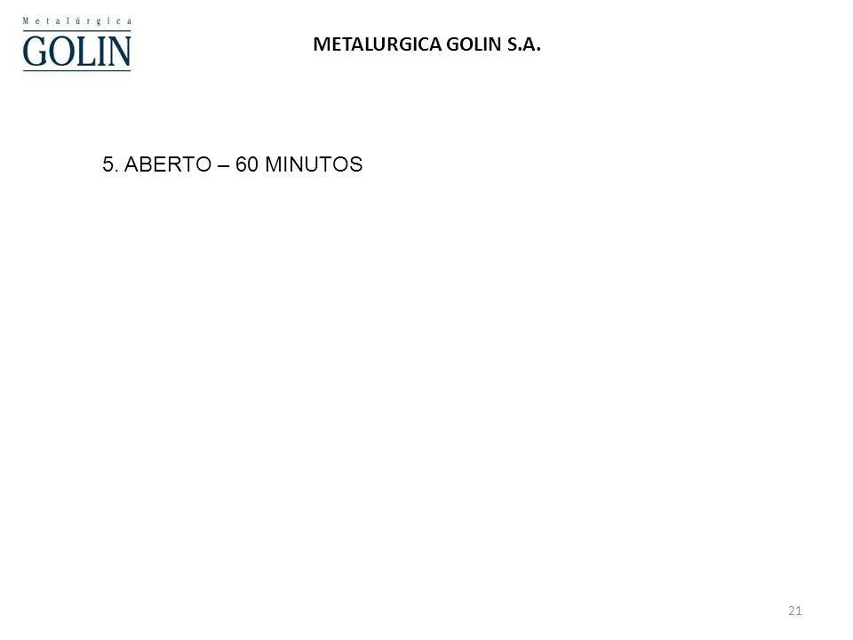 24/03/2017 METALURGICA GOLIN S.A. 5. ABERTO – 60 MINUTOS