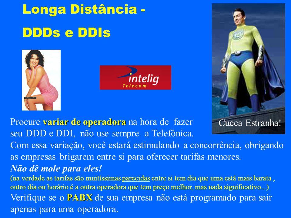 Longa Distância - DDDs e DDIs