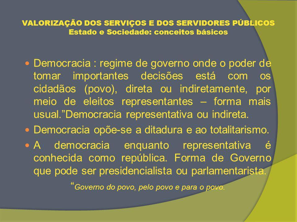 Governo do povo, pelo povo e para o povo.