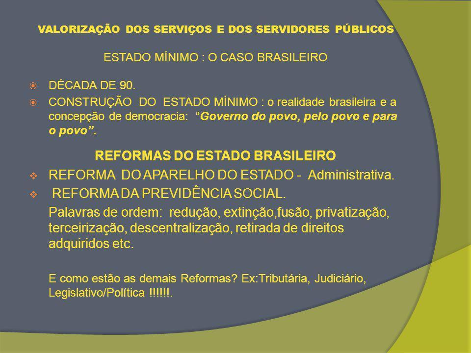 REFORMAS DO ESTADO BRASILEIRO