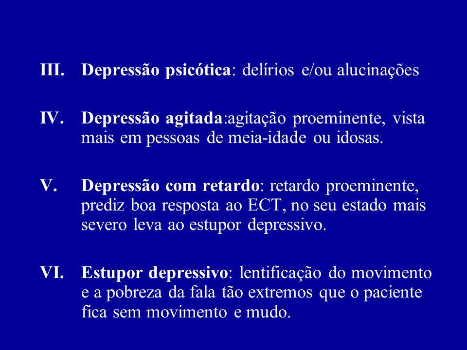 Depressão psicótica: delírios e/ou alucinações