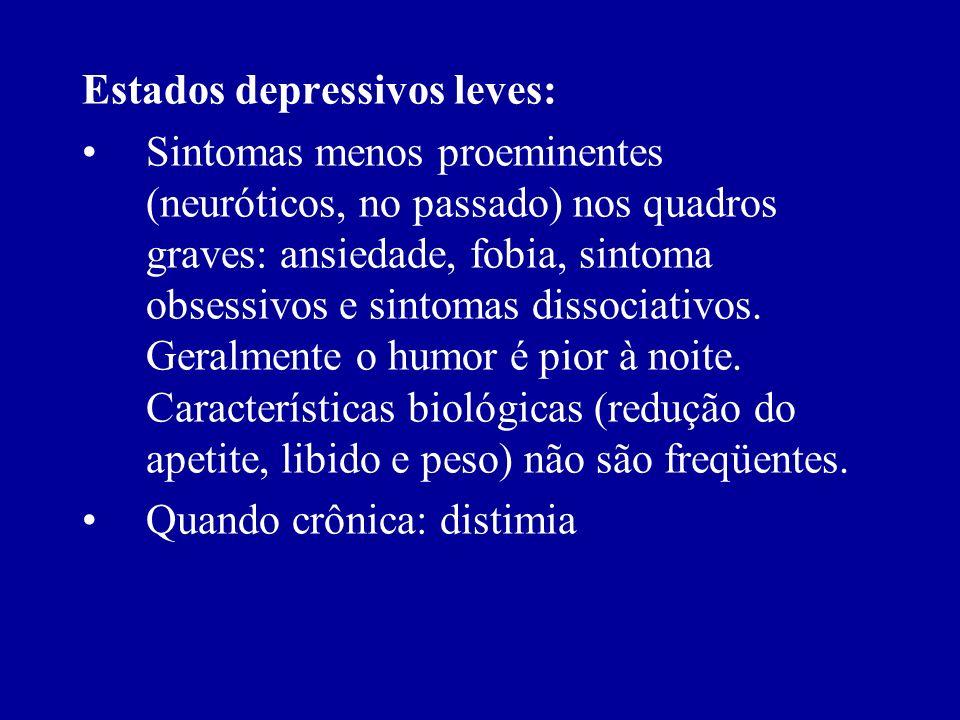 Estados depressivos leves: