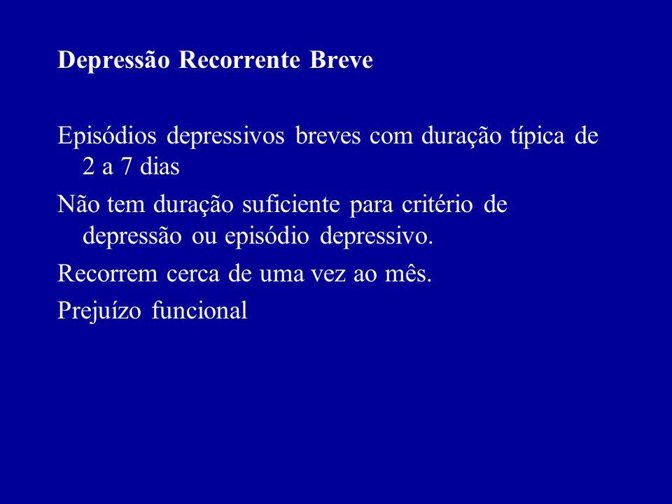 Depressão Recorrente Breve