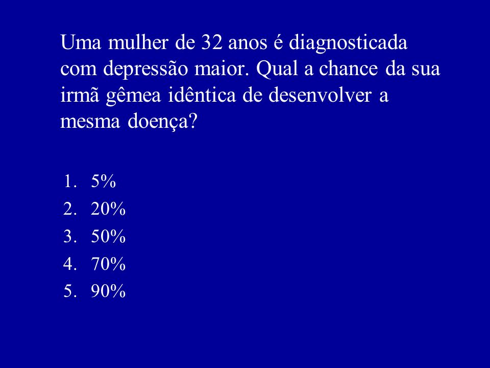 Uma mulher de 32 anos é diagnosticada com depressão maior