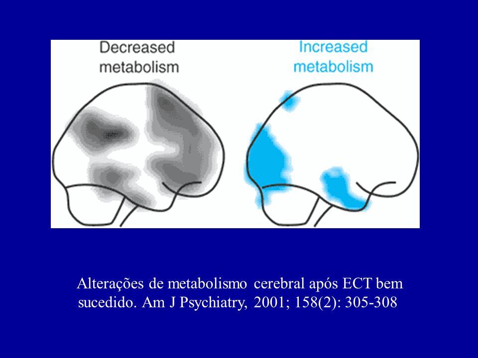 Alterações de metabolismo cerebral após ECT bem sucedido