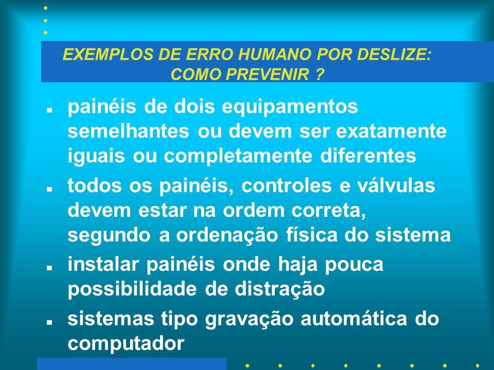 EXEMPLOS DE ERRO HUMANO POR DESLIZE: COMO PREVENIR