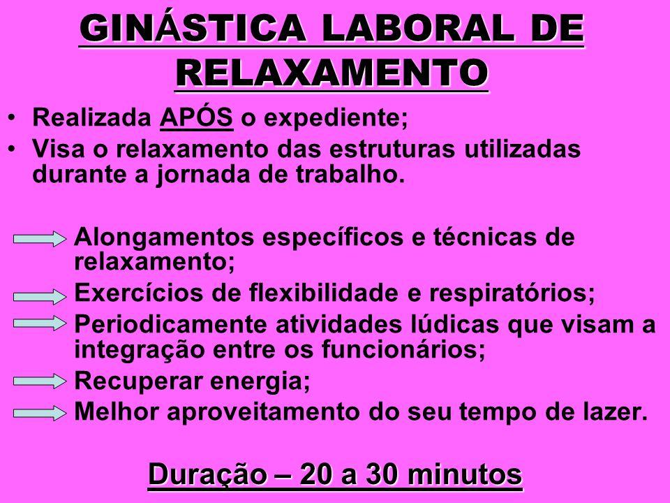 GINÁSTICA LABORAL DE RELAXAMENTO