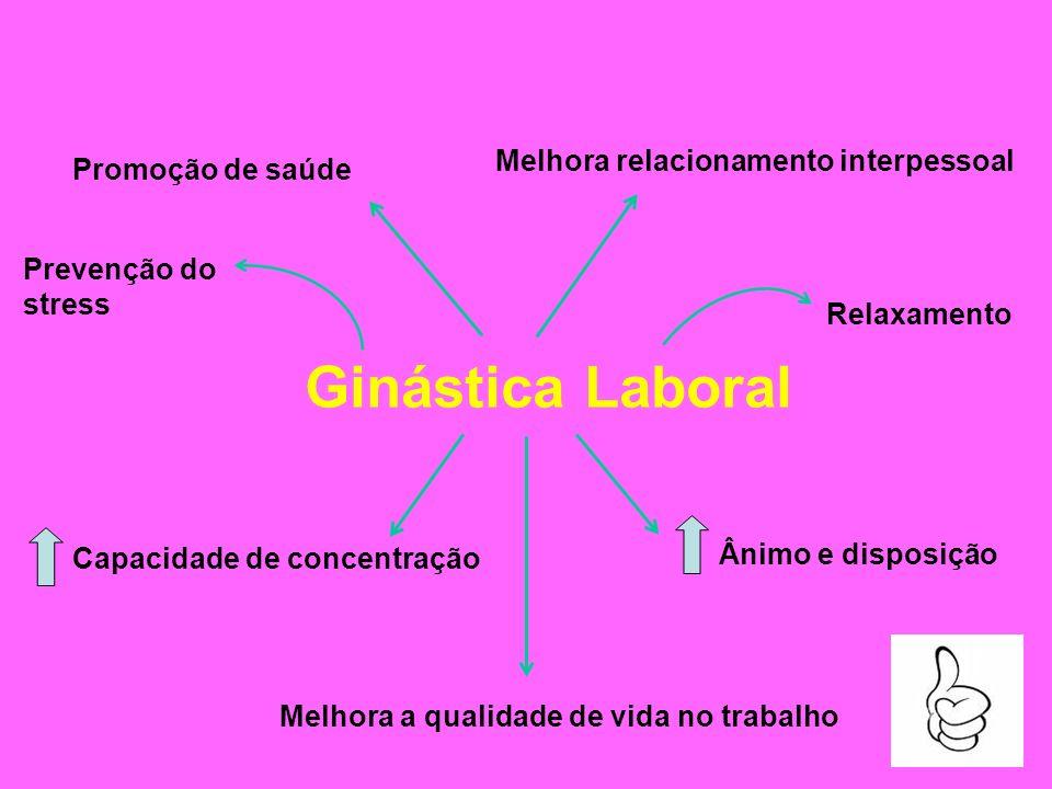 Ginástica Laboral Melhora relacionamento interpessoal