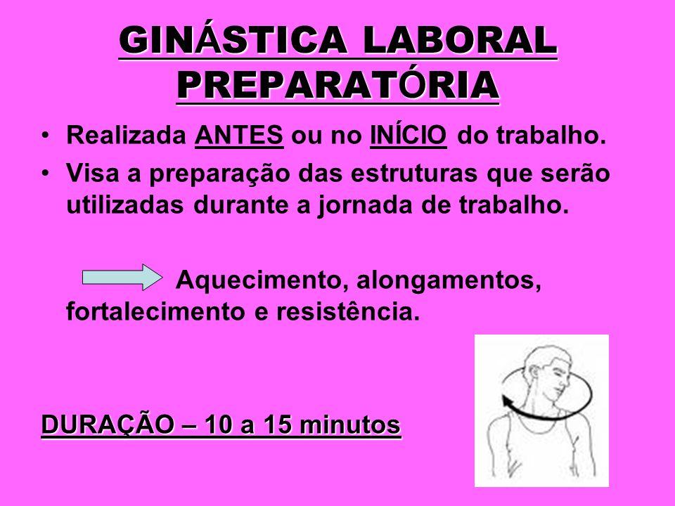 GINÁSTICA LABORAL PREPARATÓRIA