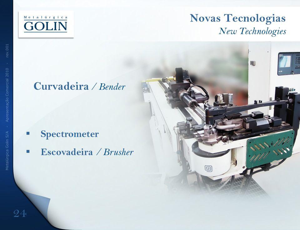 Novas Tecnologias Curvadeira / Bender New Technologies Spectrometer