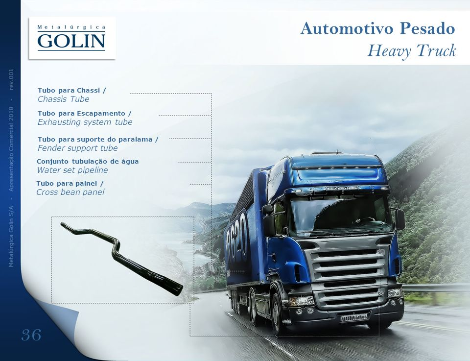 Automotivo Pesado Heavy Truck Exhausting system tube