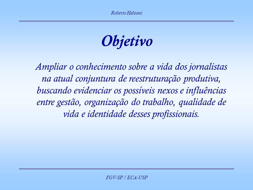 Roberto Heloani FGV-SP / ECA-USP. Objetivo.
