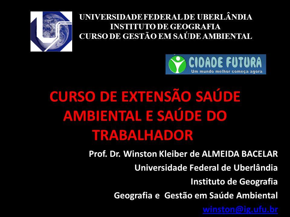 CURSO DE EXTENSÃO SAÚDE AMBIENTAL E SAÚDE DO TRABALHADOR