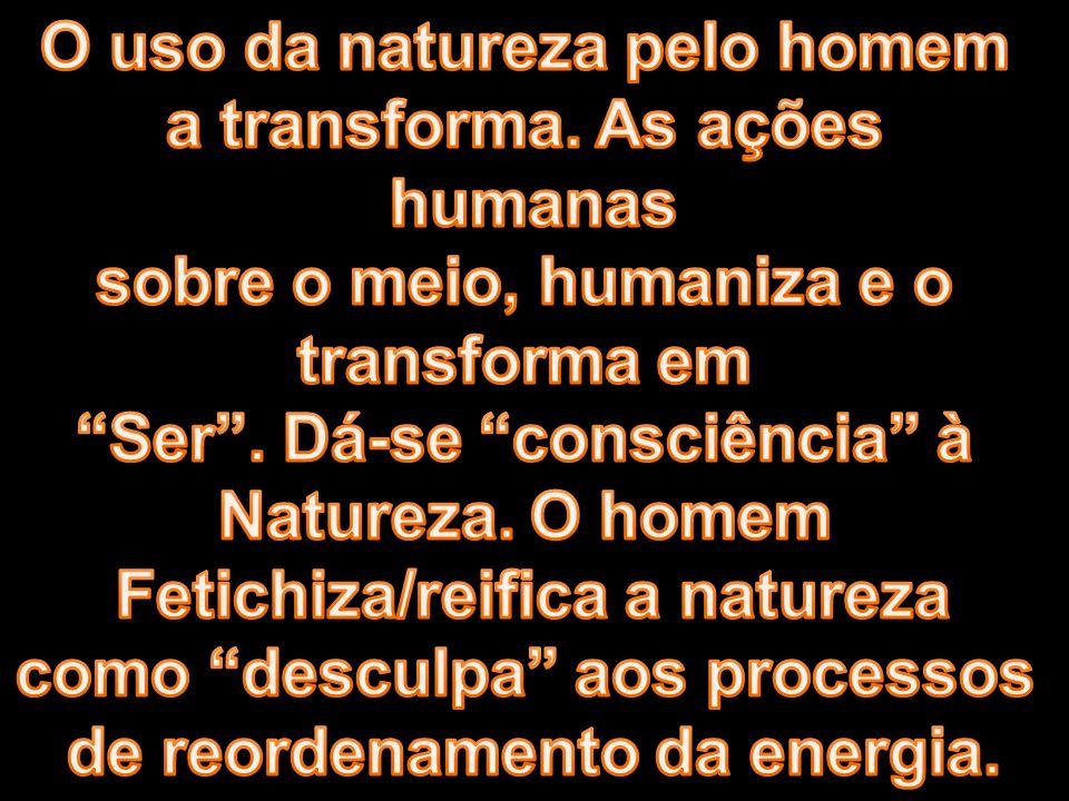 O uso da natureza pelo homem a transforma. As ações humanas