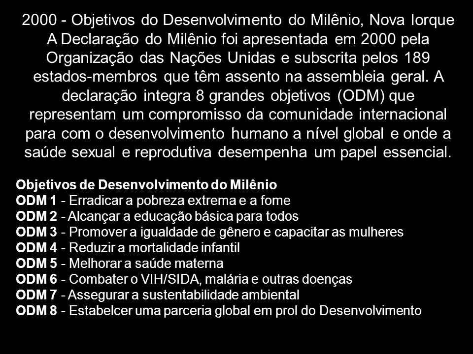 2000 - Objetivos do Desenvolvimento do Milênio, Nova Iorque