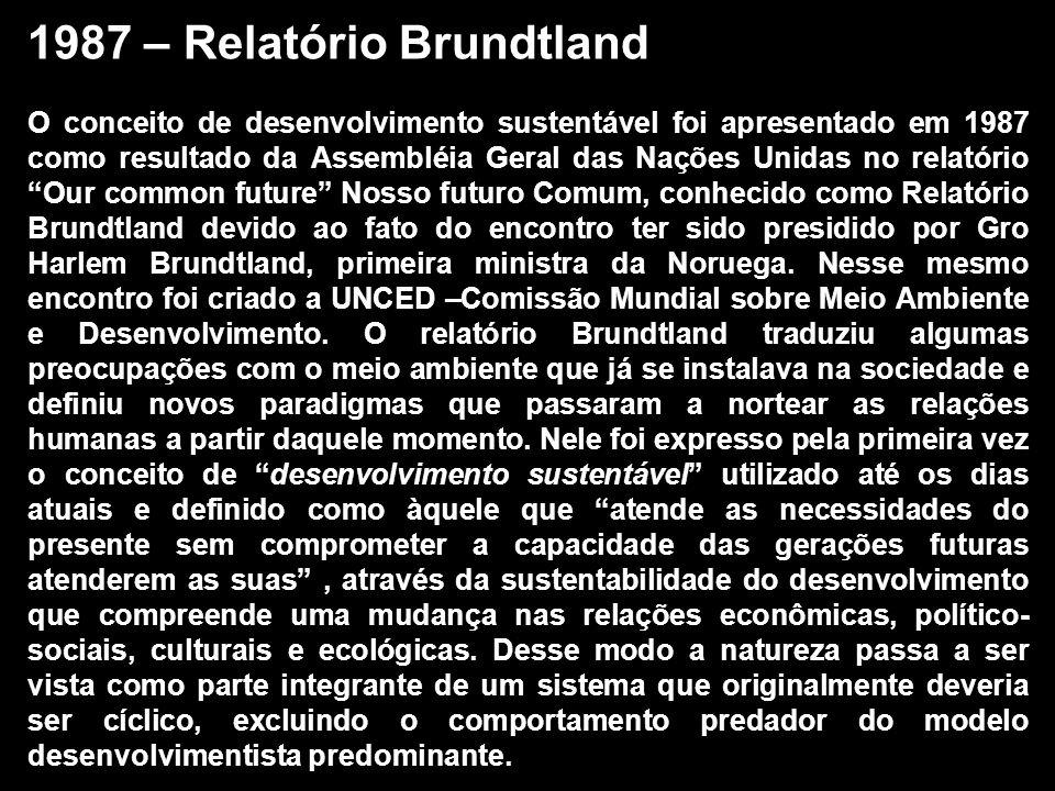 1987 – Relatório Brundtland