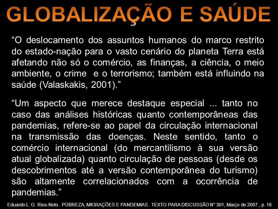 GLOBALIZAÇÃO E SAÚDE
