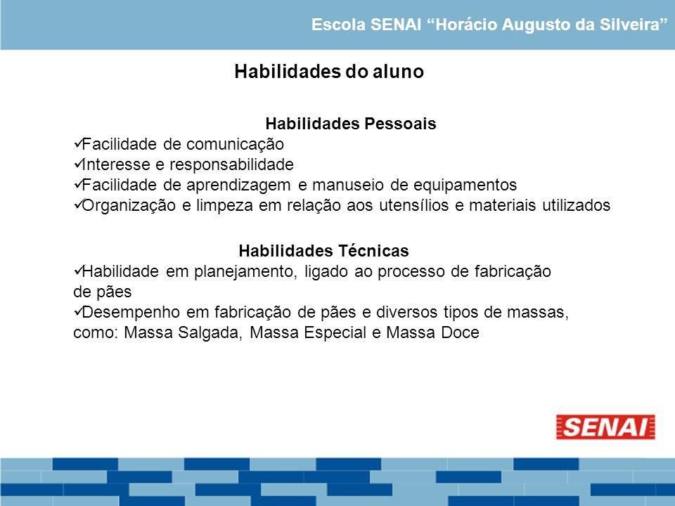 Habilidades do aluno Escola SENAI Horácio Augusto da Silveira