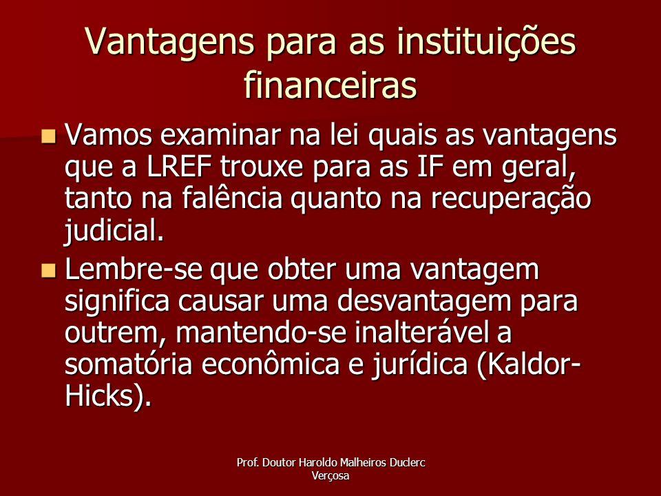 Vantagens para as instituições financeiras
