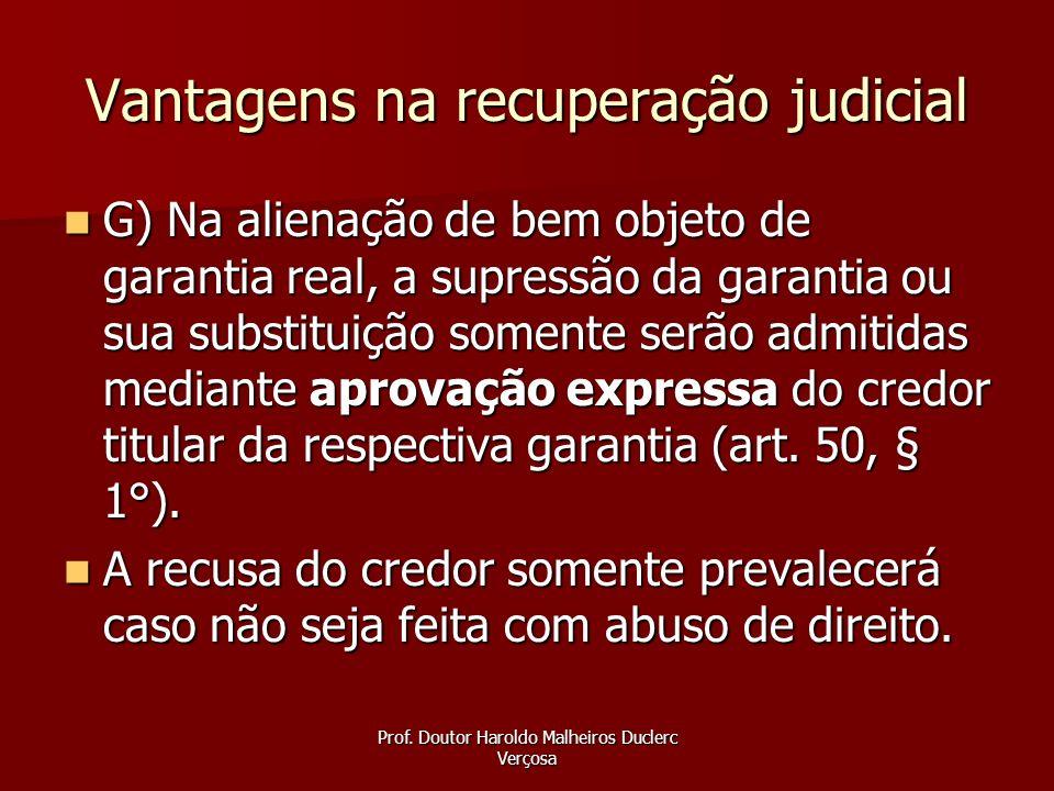 Vantagens na recuperação judicial