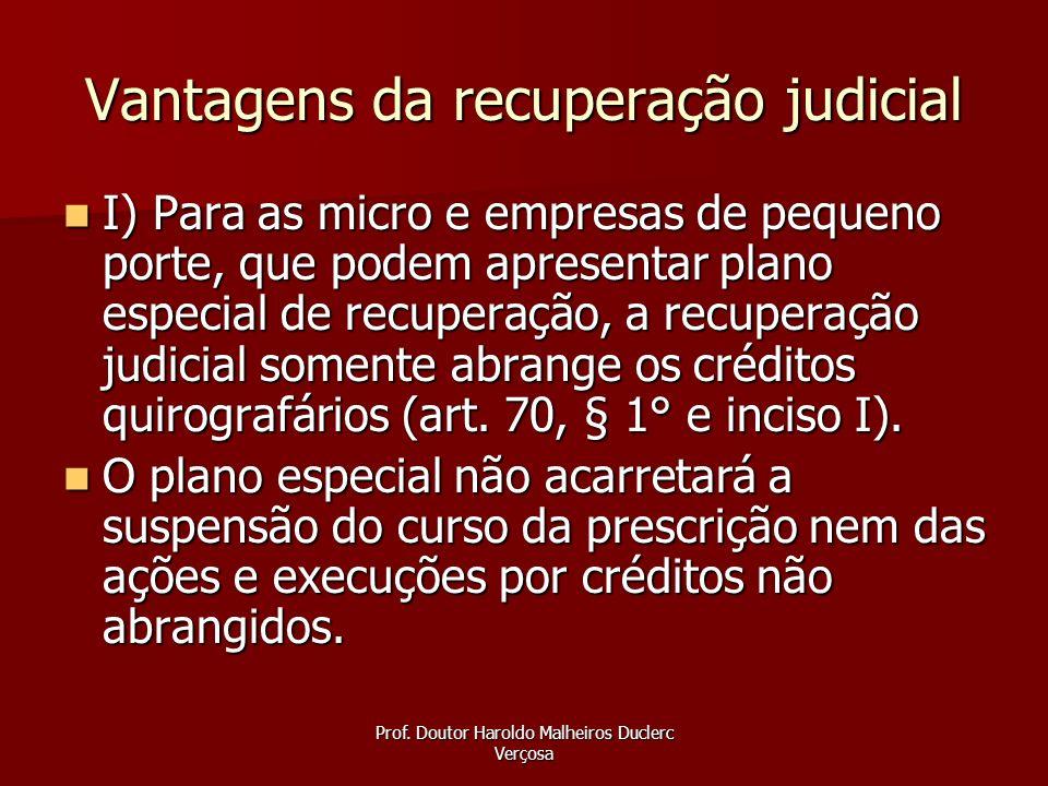 Vantagens da recuperação judicial