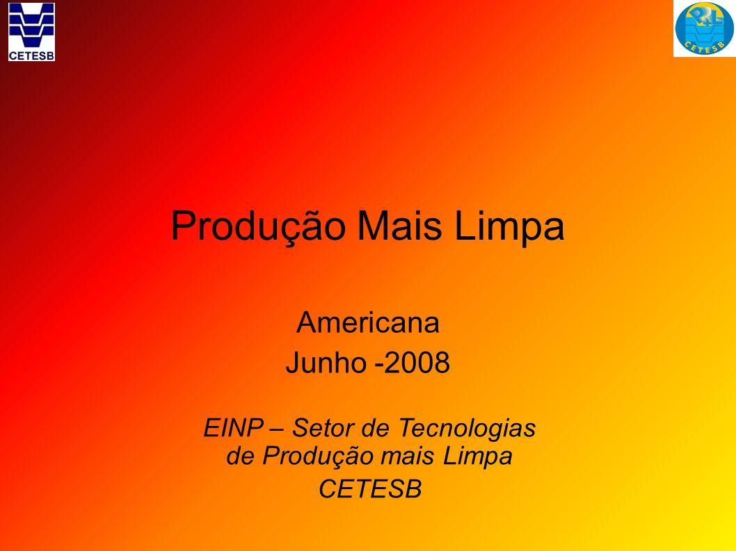 EINP – Setor de Tecnologias de Produção mais Limpa