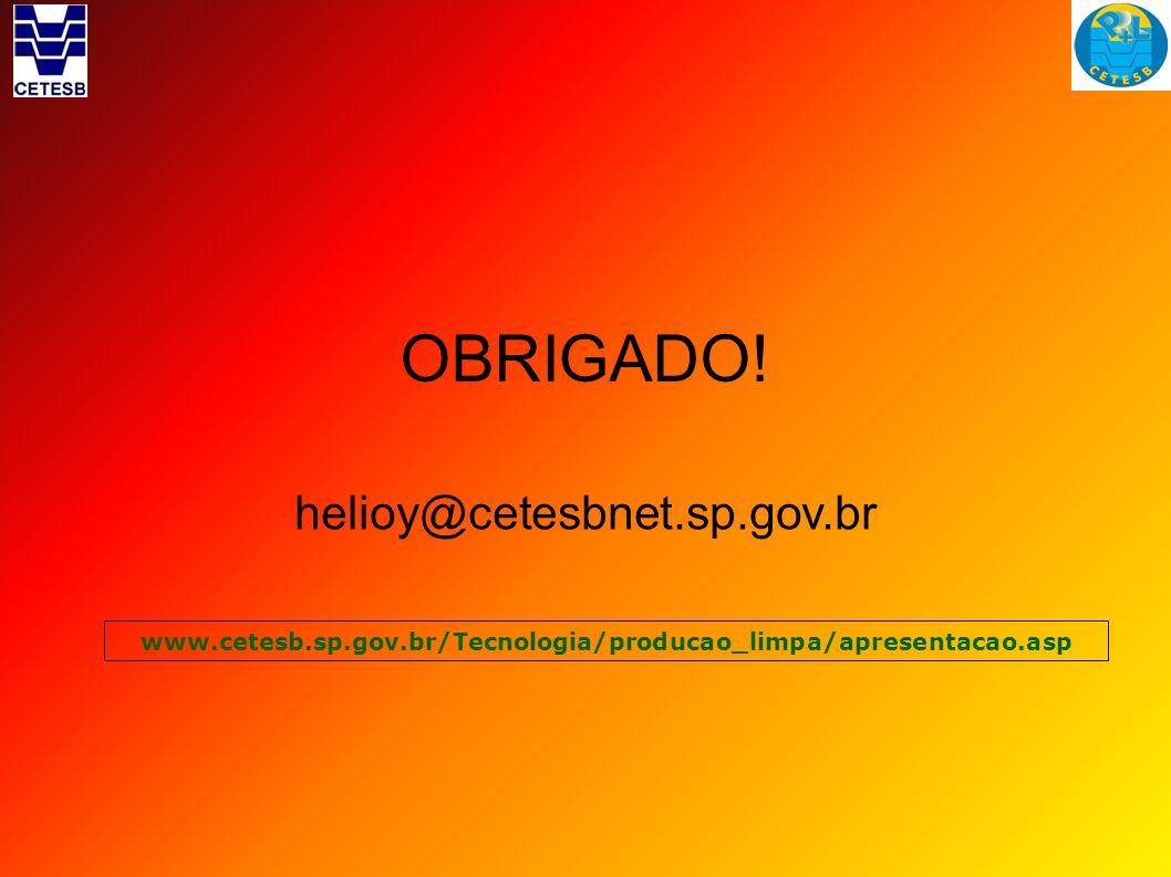 OBRIGADO! helioy@cetesbnet.sp.gov.br