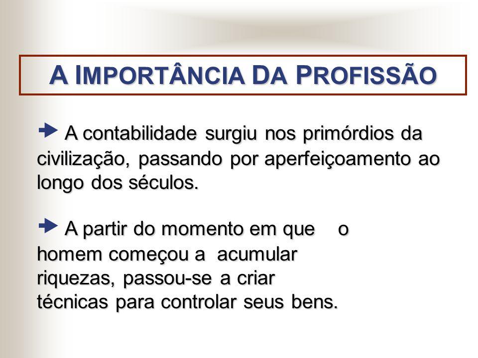 A IMPORTÂNCIA DA PROFISSÃO